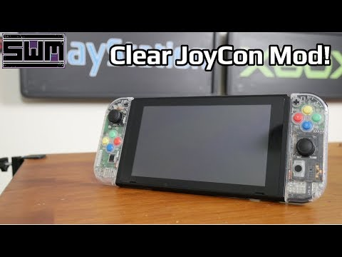 Change Your Joycon Shells On The Nintendo Switch! (Clear Joycon Install)
