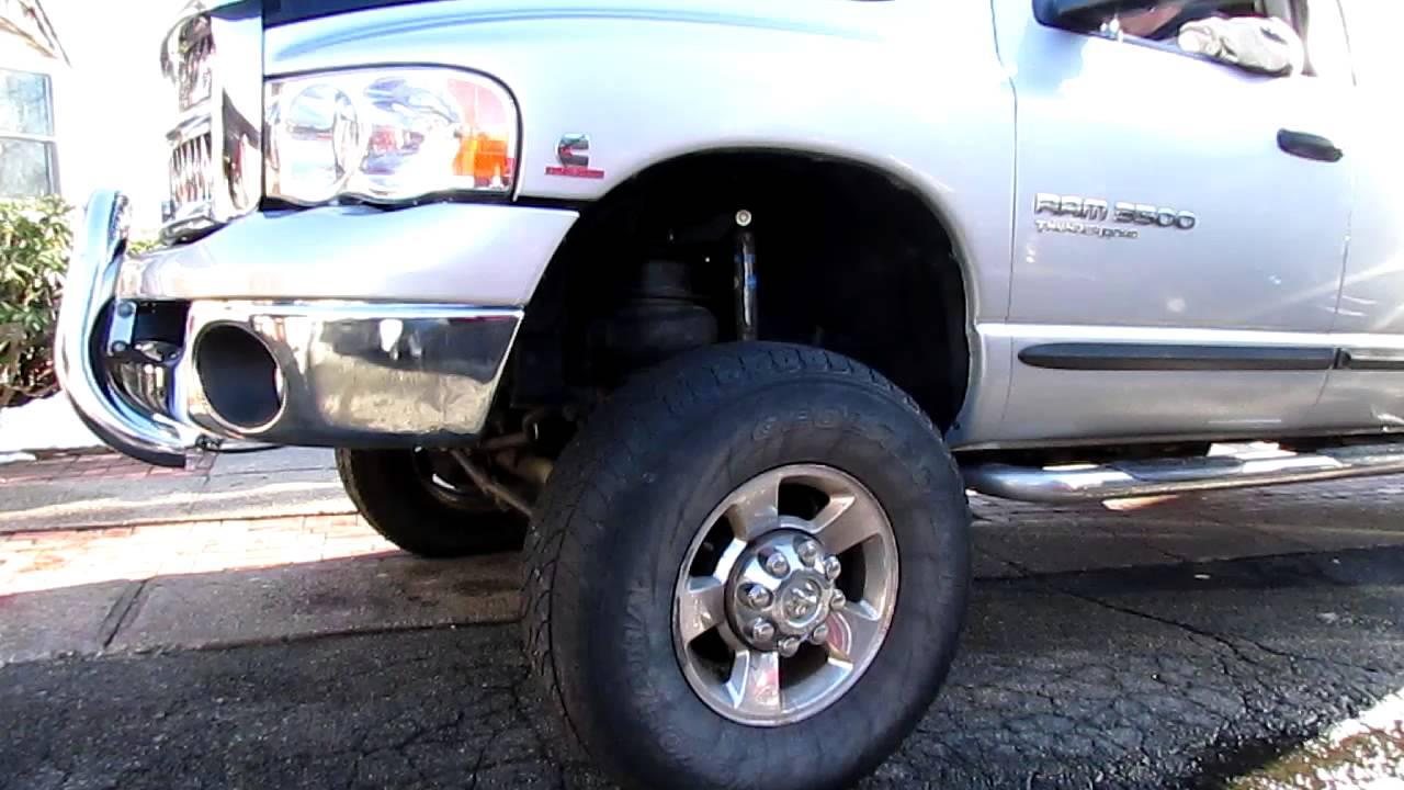 Dodge 3500 front air suspension youtube publicscrutiny Image collections