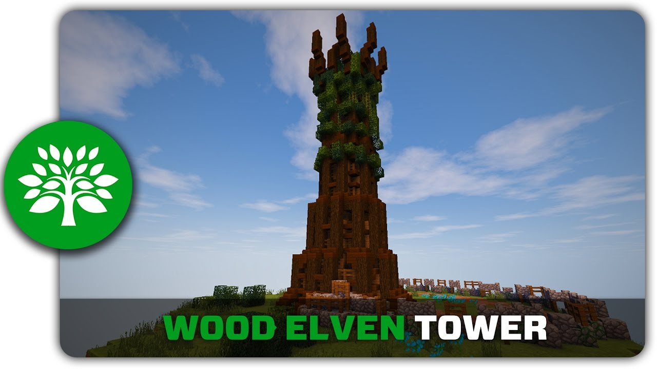 Minecraft Building Tutorial How To Build A Wood Elven Tower