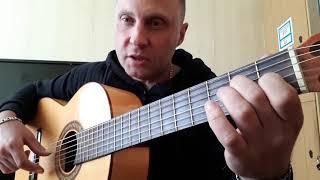 Испанская музыка на гитаре.Урок.Упражнение