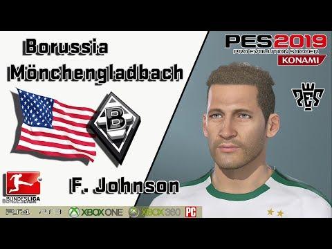 F. JOHNSON  Face+stats  (Borussia Mönchengladbach) PES 2019