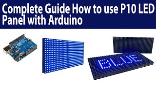 How to use P10 DMD using Arduino Complete Guide || Azhar Electronics
