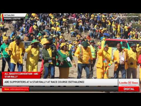 ABC supporters at a Star Rally at Sethaleng (Racecourse) in Lower Thetsane, Maseru (2)