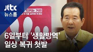 5월 6일부터 '생활 속 거리두기'로…일상 복귀 첫발 / JTBC 뉴스룸
