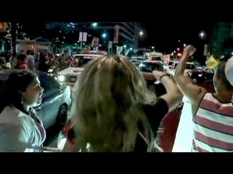 Venezuelan students protest against Chavez - no comment