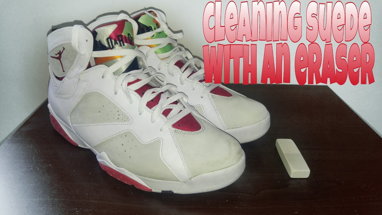 3e4d42b7d41 How to clean suede sneakers with an eraser in less than 1 minute ...