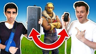 TWO PEOPLE CONTROL ONE PLAYER (Fortnite Battle Royale) ft. Muselk