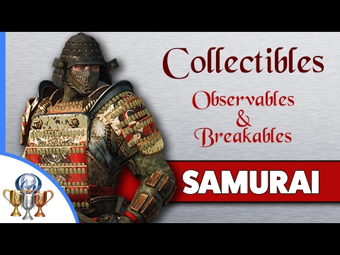 For Honor All 83 Observables & Breakables Collectible Locations (CH 3) Samurai Campaign  (3.1 - 3.6)