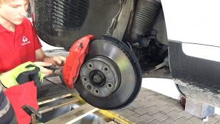Установка тормозных дисков Otto Zimmermann и колодок ATE Ceramic на Volkswagen Touareg