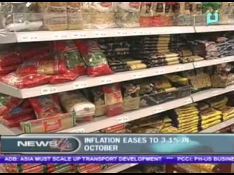 Inflation decelerates to 3.1% in October