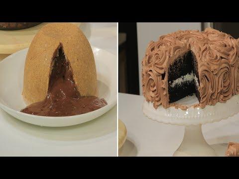بودينج التوست بالشوكولاتة - كيكة شوكولاتة غنية لايت - مولتن كيك سريعة : حلو وحادق حلقة كاملة
