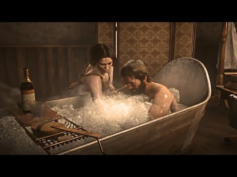 Red Dead Redemption 2 - Arthur Gets a Sensual Deluxe Bath