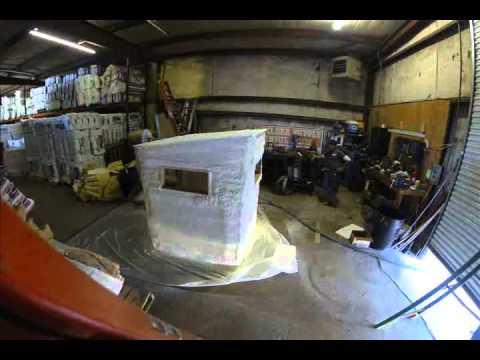 Spray Foam Deer Stand Youtube