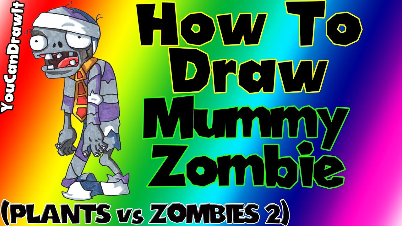 how to draw mummy zombie from plants vs zombies 2 youcandrawit