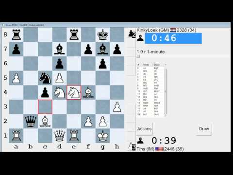 Bullet Chess #71: 20 games in the ICC 1-minute pool