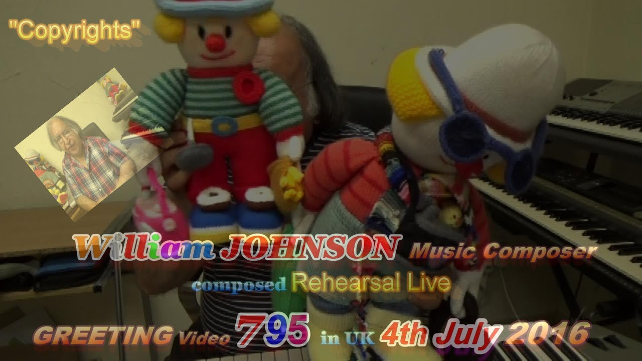 William Johnson Music Composer Composed Rehearsal Live Greeting