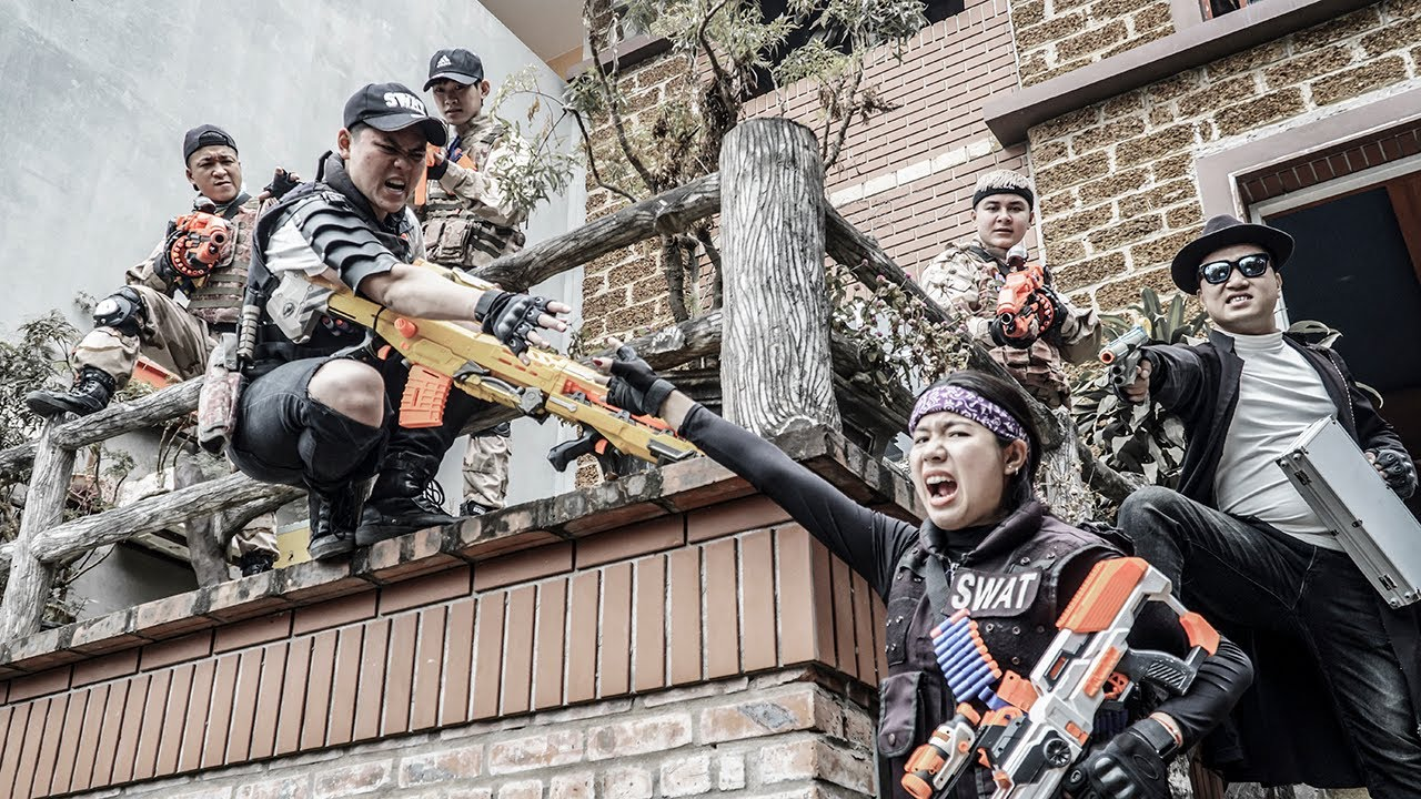 LTT Nerf War : Rescue Police SEAL X Warriors Nerf Guns Fight Dr Ken Crazy Illegal Transactions