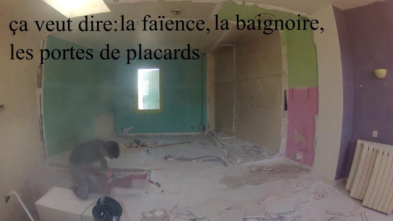 Casser Une Cloison En Brique après avoir casser les murs, les finitions :(