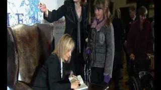 J.K. Rowling signs The Tales of Beedle the Bard at launch