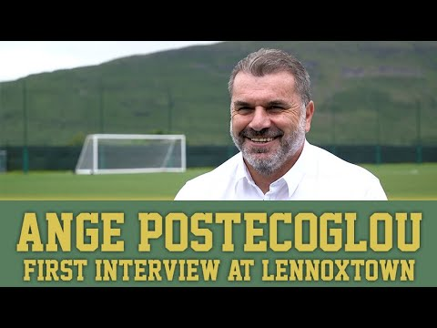 Exclusive first interview at Lennoxtown with Celtic Manager Ange Postecoglou