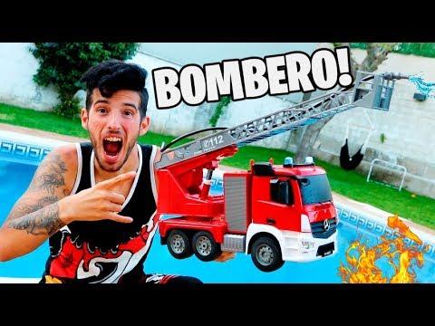 NUEVO CAMIÓN DE BOMBEROS RC *DISPARA AGUA* !! INCREÍBLE !! Makiman