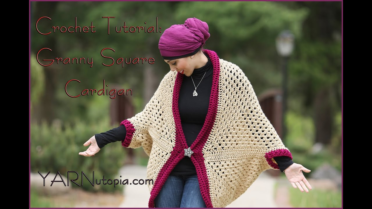 How to crochet a granny square cocoon sweater cardigan youtube bankloansurffo Choice Image