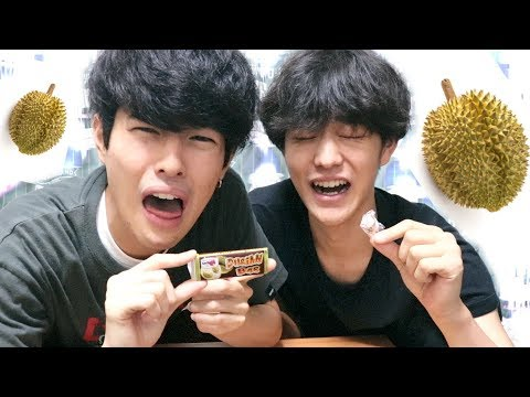 JAPANESE BROTHERS TRIES TO EAT DURIAN CANDY!!!!!