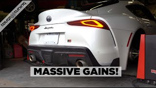 2020 Toyota Supra - CTS Catless Downpipe & Stage 2 Bootmod3 Dyno Results