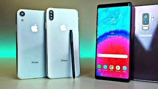 Samsung Galaxy Note 9 vs iPhone Xs Max, who is faster in real life