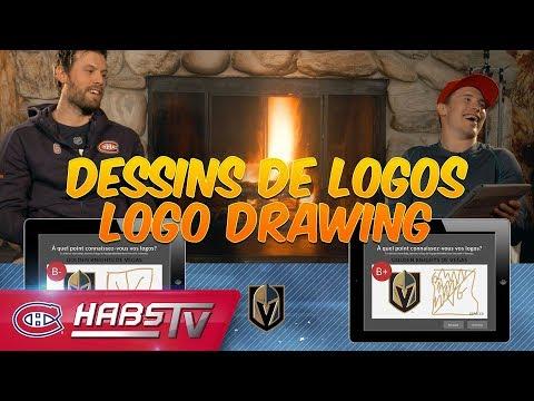 Shea Weber and Brendan Gallagher draw NHL logos