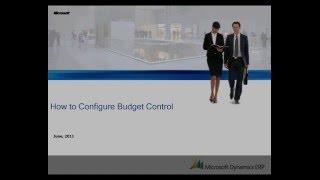 Microsoft Dynamics AX: How to Configure Budget Control