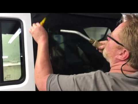 Tinting side windows on a Jeep Wrangler soft top