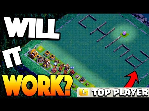 USING THE #1 PLAYER'S BASE... WILL IT WORK? Clash of Clans Builder's Base Pushing!