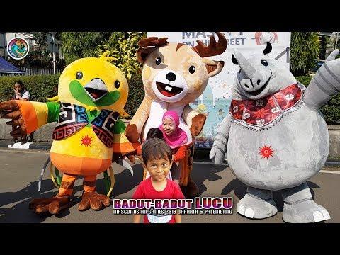 BADUT UNYU-UNYU BanGET, Maskot Asian Games 2018 👍 (4K Video)