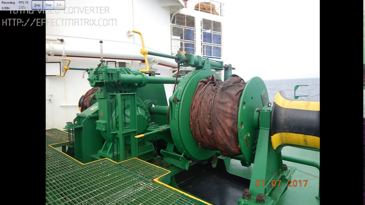 Checking The Mooring Winch Brake Holding Capacity Test