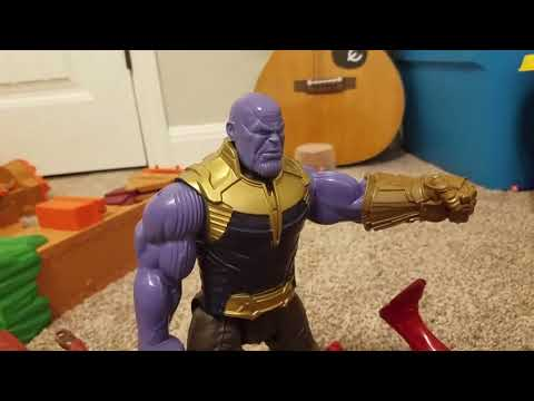 Avengers infinity war action figures fight movie