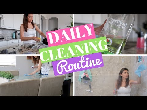 DAILY CLEANING ROUTINE | STAY AT HOME MOM | COLLAB WITH PAGE DANIELLE