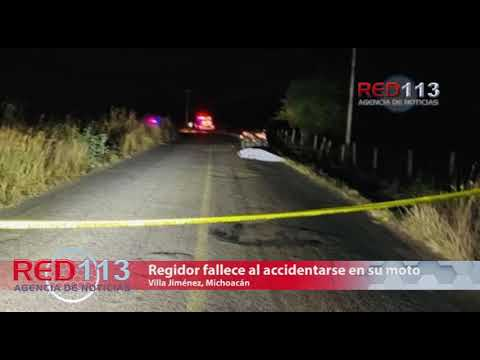 Regidor de Villa Jiménez fallece al accidentarse en su moto