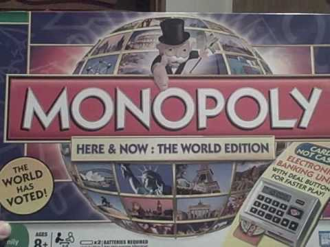 Monopoly Here And Now The World Edition With Electronic Banking