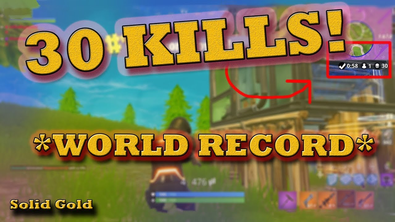 World Record 30 Kill Gameplay Solid Gold Fortnite Battle