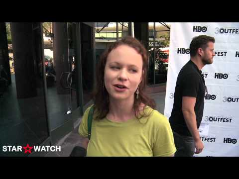 Thora Birch red carpet  at