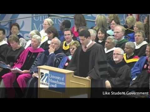 University Of Massachusetts Lowell Student Government President at Convocation