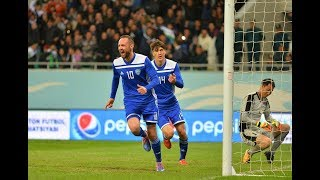 Uzbekistan vs North Korea. Goal Marat Bikmayev 13.10.2018