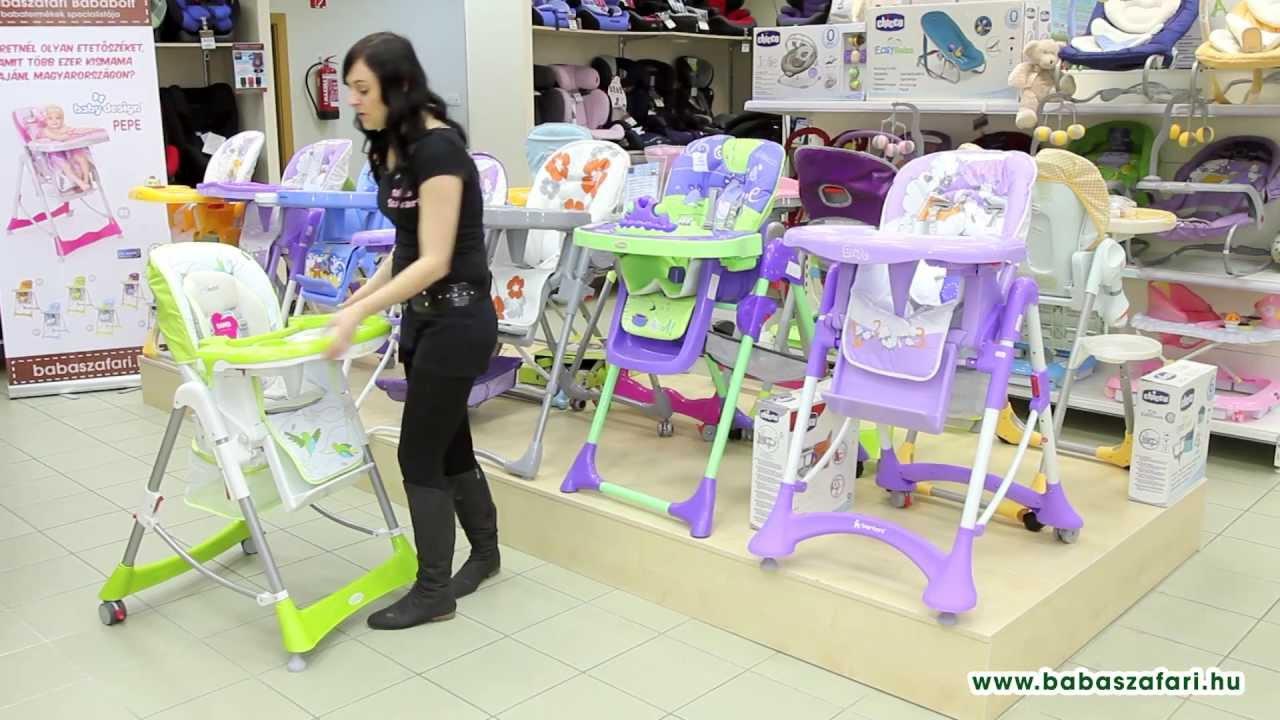 Baby Design Bambi multifunkciós etetőszék - YouTube 97484934d7