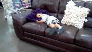 Baby on costco couch