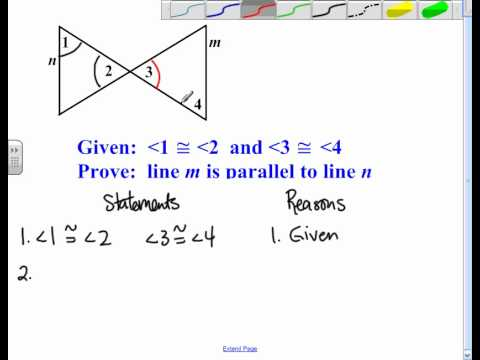 Proving Lines Parallel Proofs.avi - YouTube