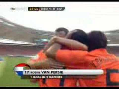 WC 2006 - Robin van Persie (NL) scores againt Ivory Coast
