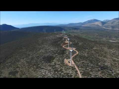 EREN Wind power plants in Greece (2016)