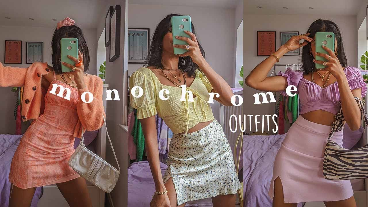 10 monochromatic spring outfits 🍭🍉
