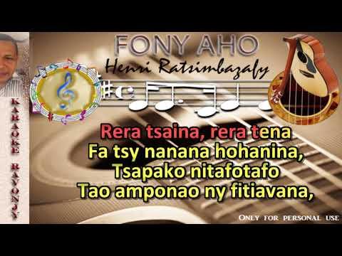 Karaoke gasy - Henri Ratsimbazafy - Fony aho - RaVonjy
